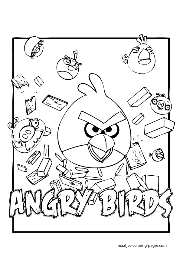 Angry Birds Go Karts Coloring Pages Coloring Pages