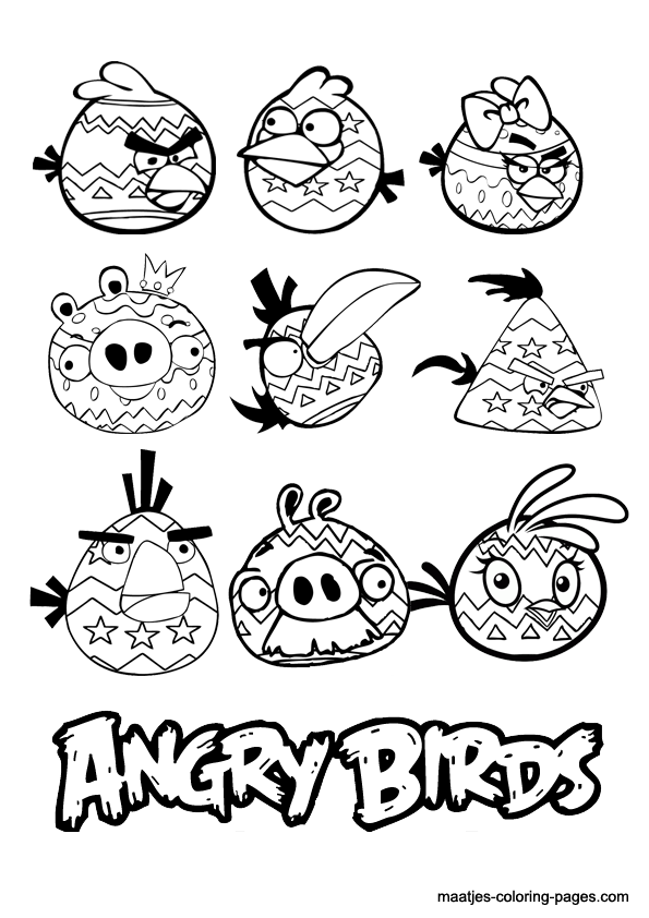 Angry Birds Valentine Coloring Pages Pictures to Pin on Pinterest
