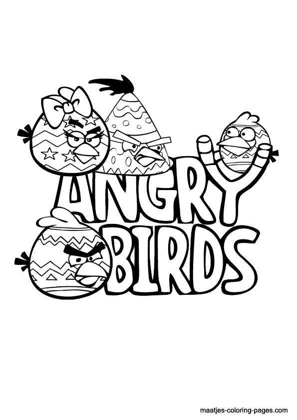 angry birds coloring pages easter - photo#8