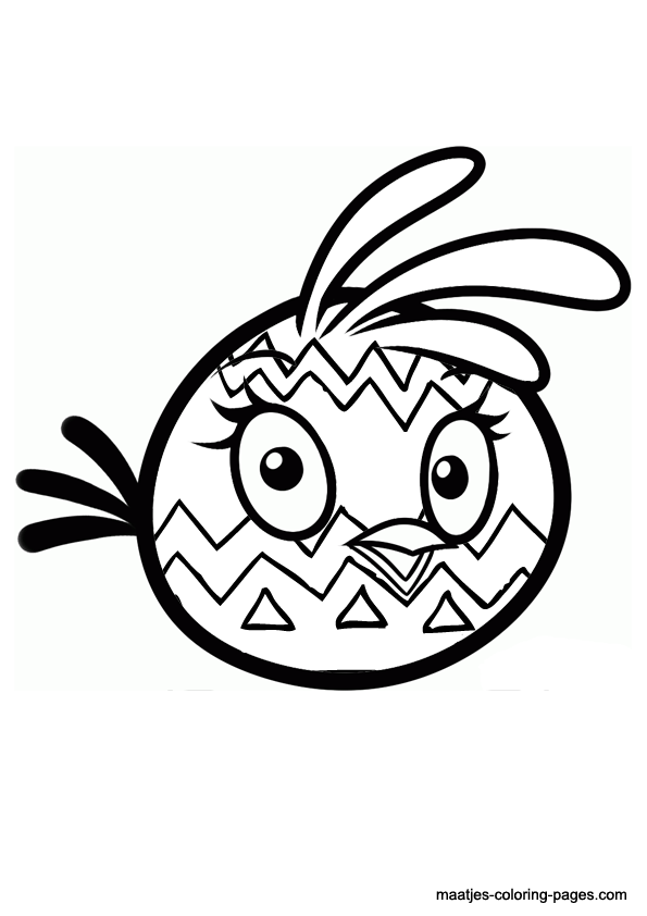 angry birds coloring pages easter - photo#15