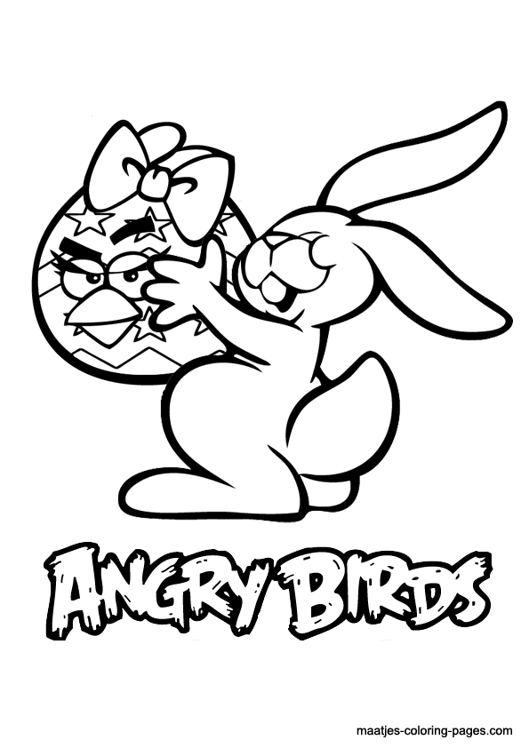 angry birds coloring pages easter - photo#2
