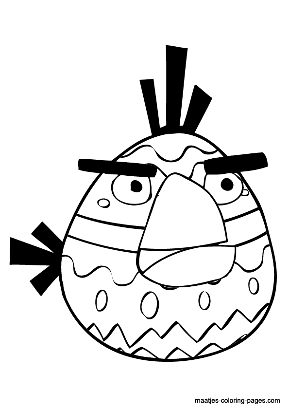 angry birds coloring pages easter - photo#24