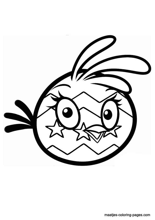 angry birds coloring pages easter - photo#25