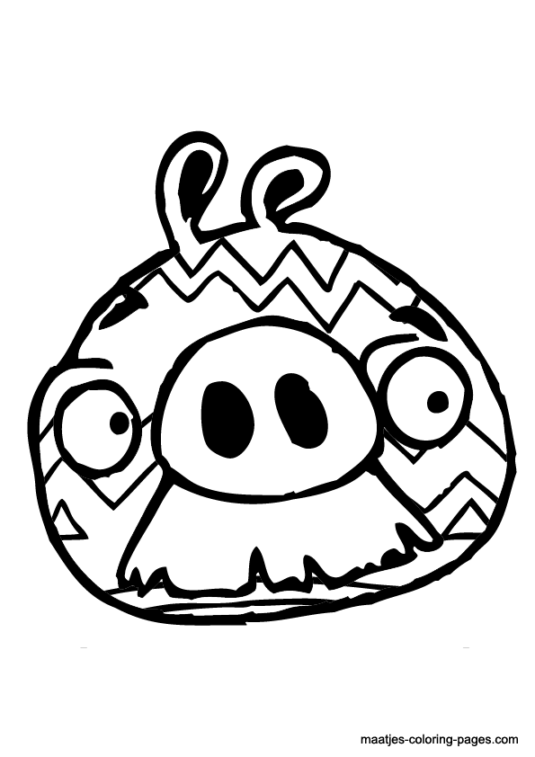angry birds coloring pages easter - photo#10