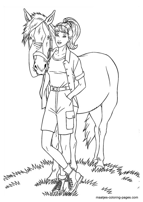 Barbie Coloring Pages On Computer : Barbie coloring pages for girls