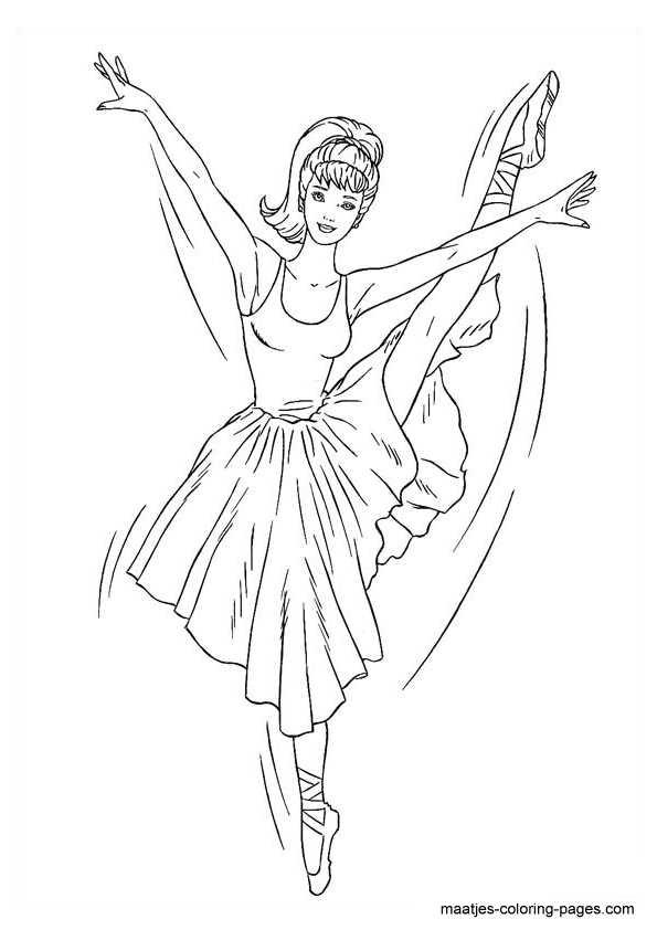- Barbie Coloring Pages For Girls