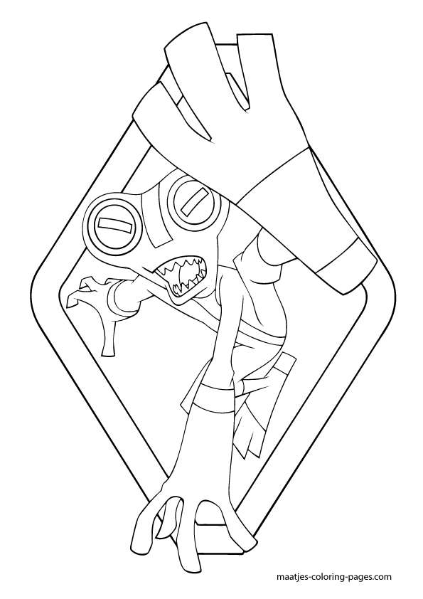 Ben 10 Four Arms Pages Coloring Pages