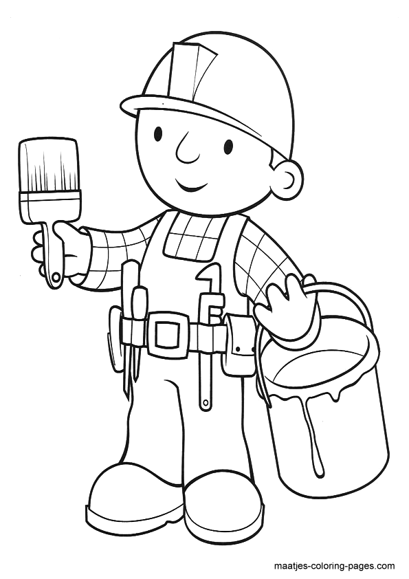 Bob the Builder Coloring Page 07 | Coloring Page Central | 842x595