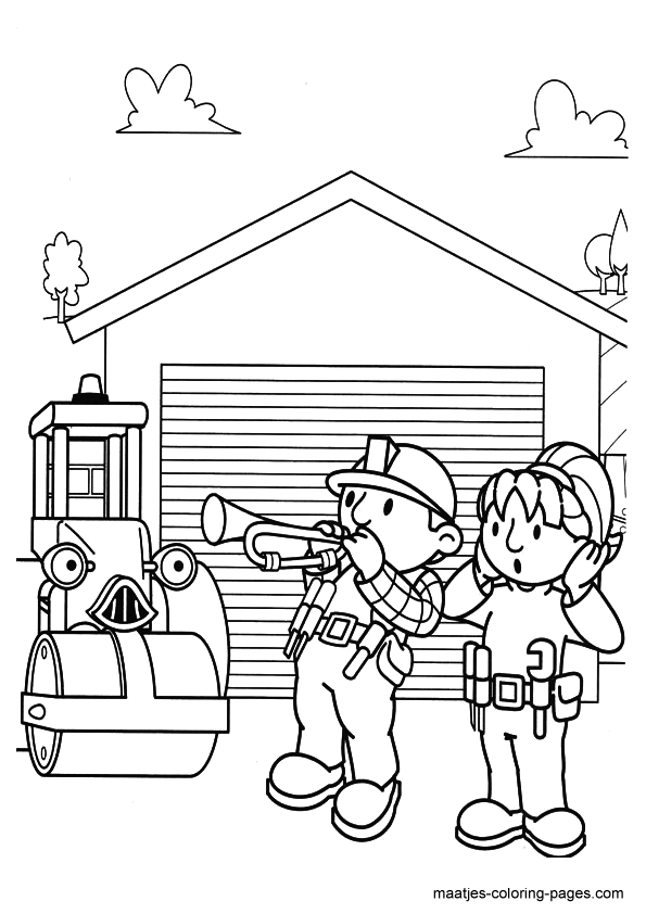 coloring book ~ Free Bob The Builder Coloring Sheets Pages Handy ... | 842x595