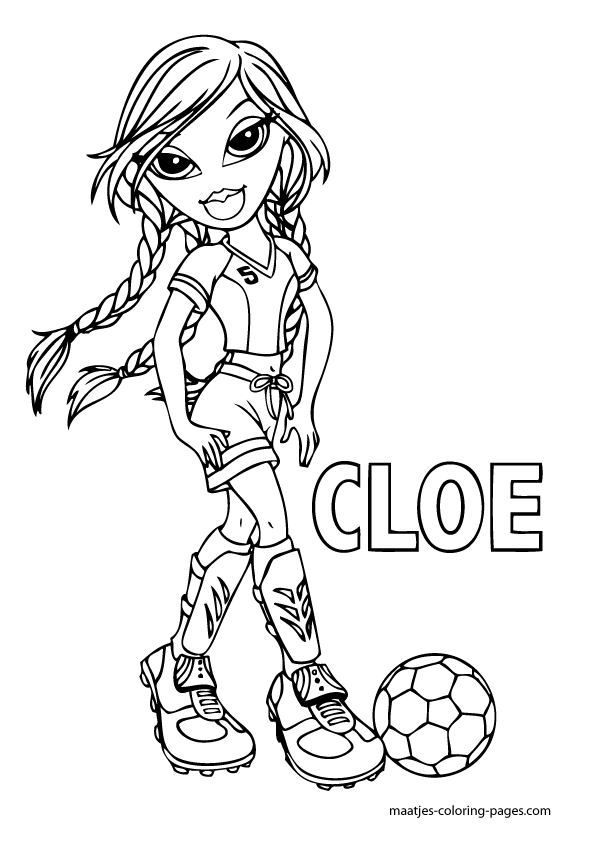 bratz coloring pages cloey - photo#14