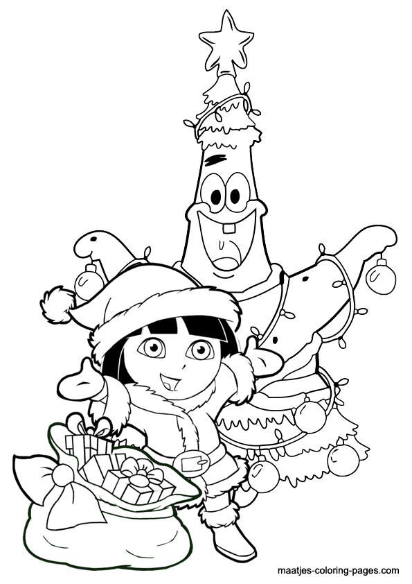 Kerst Kleurplaten Donald Duck Dora The Explorer Christmas Coloring Pages