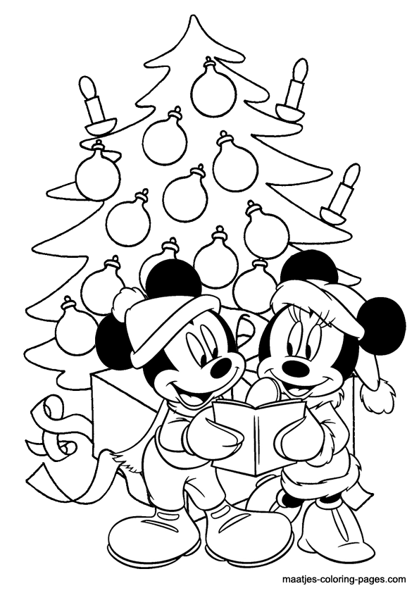 Coloring Pages Mickey Mouse Christmas : Minnie mouse christmas coloring pages