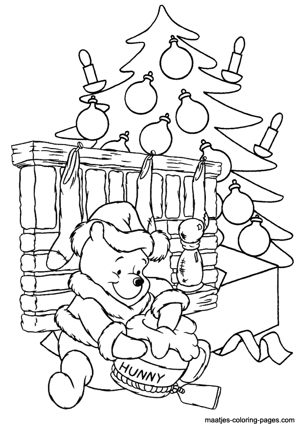 Winnie the pooh christmas coloring pages for Winnie the pooh christmas coloring pages