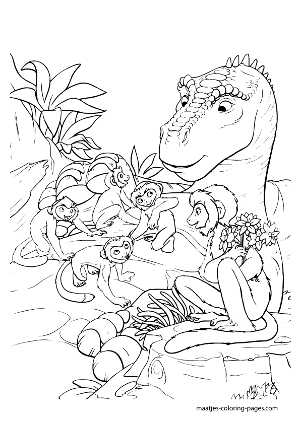 disney dinosaur coloring pages - photo#14
