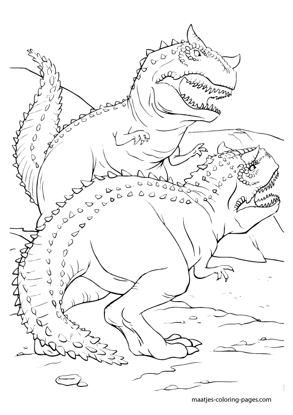 Раскраска динозавры формат а4