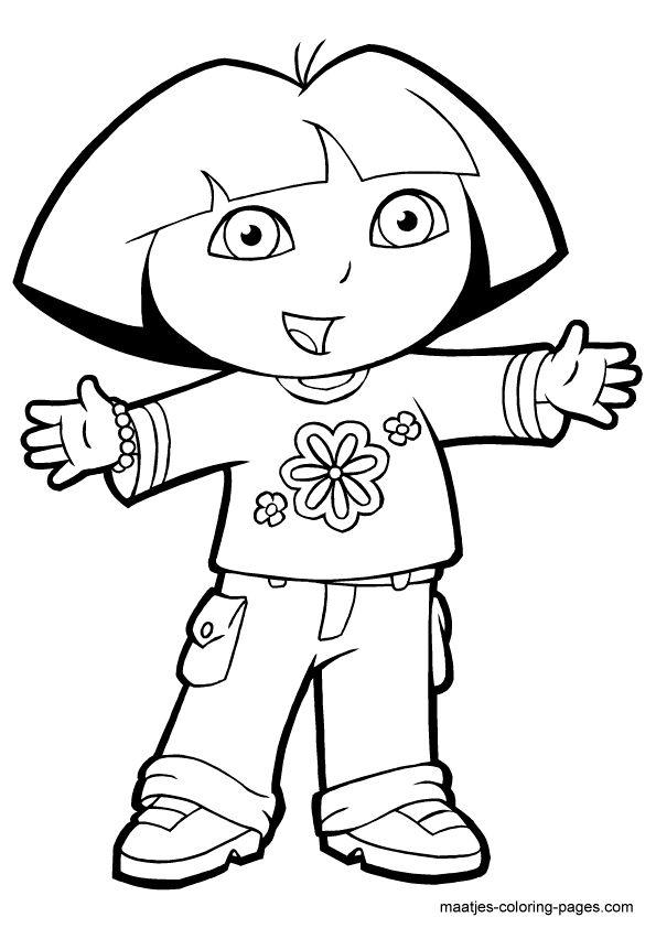 Dora Coloring Page The Explorer Coloring Pages Printable