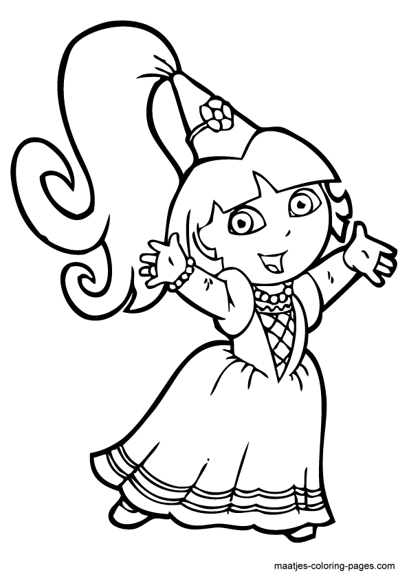 Free printable dora coloring pages sketch coloring page for Dora mermaid coloring pages