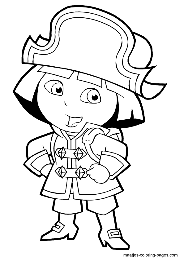 Dora The Explorer Color Page Cartoon Characters Coloring Pages Color