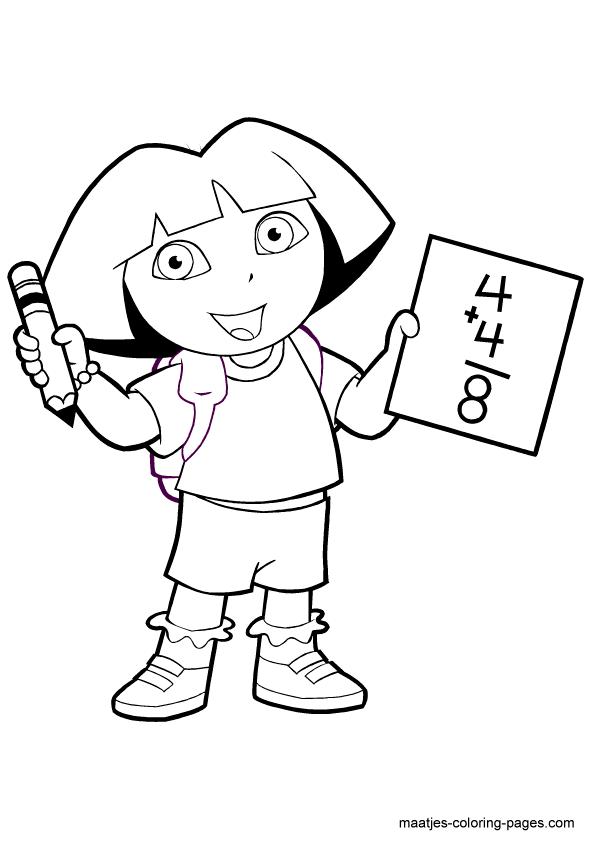 Dora coloring page   Free Printable Coloring Pages   842x595