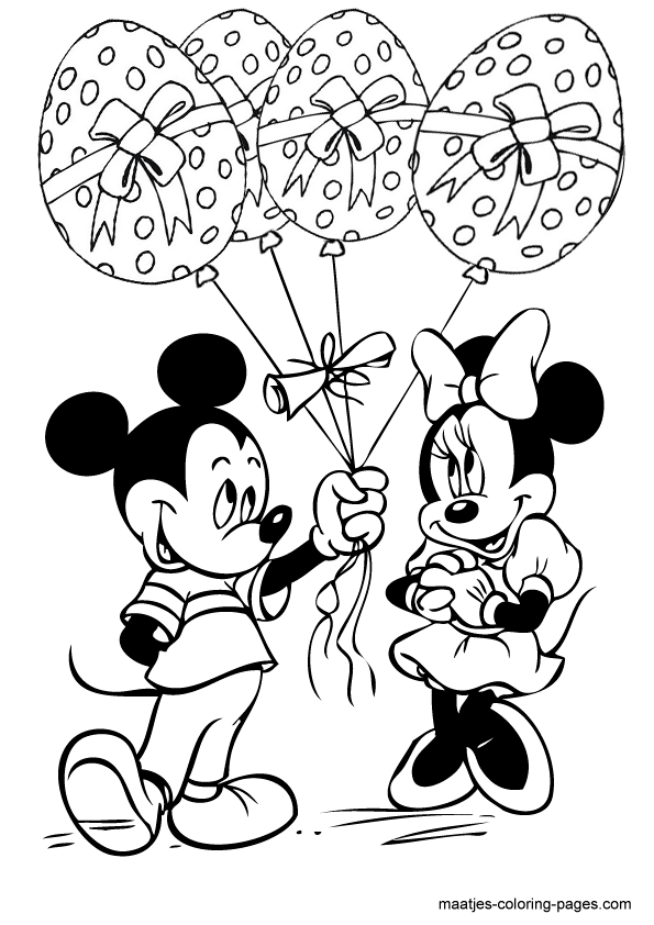 minnie mouse coloring pages easter - photo#10