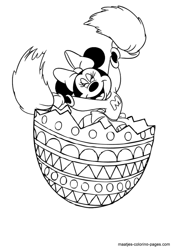 minnie mouse coloring pages easter - photo#9