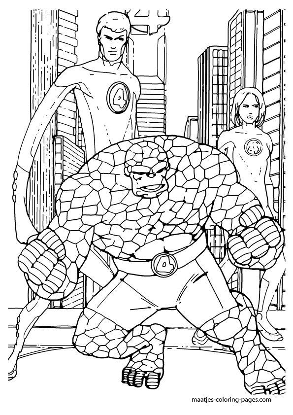 fantastic four coloring pages to print   Fantastic Four coloring pages