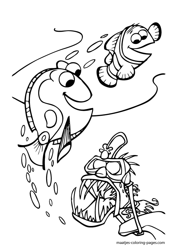 Finding Nemo coloring pages | 842x595