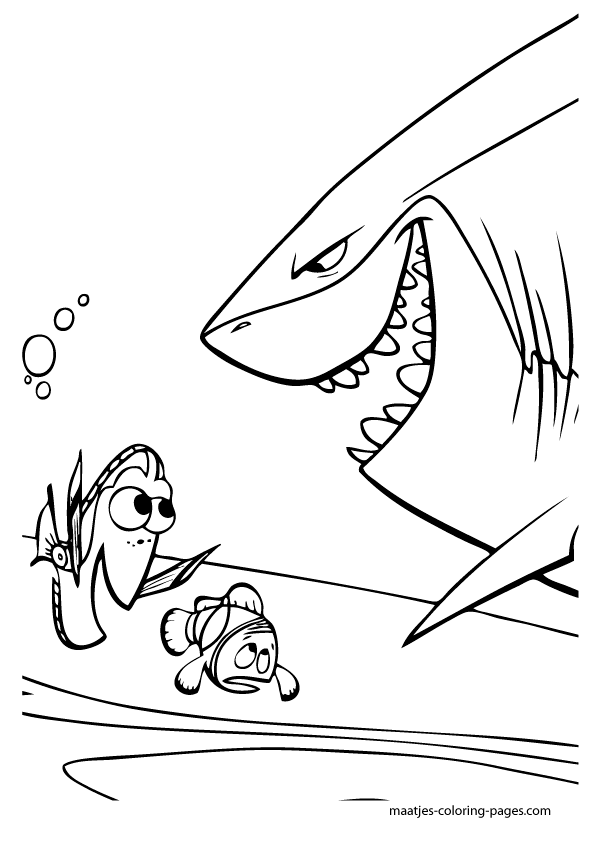 Nemo Finding Nemo Coloring Page Disney Coloring Pages Color Plate