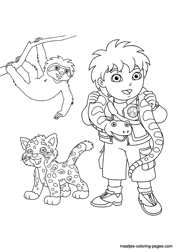 printable go diego coloring pages - photo#16