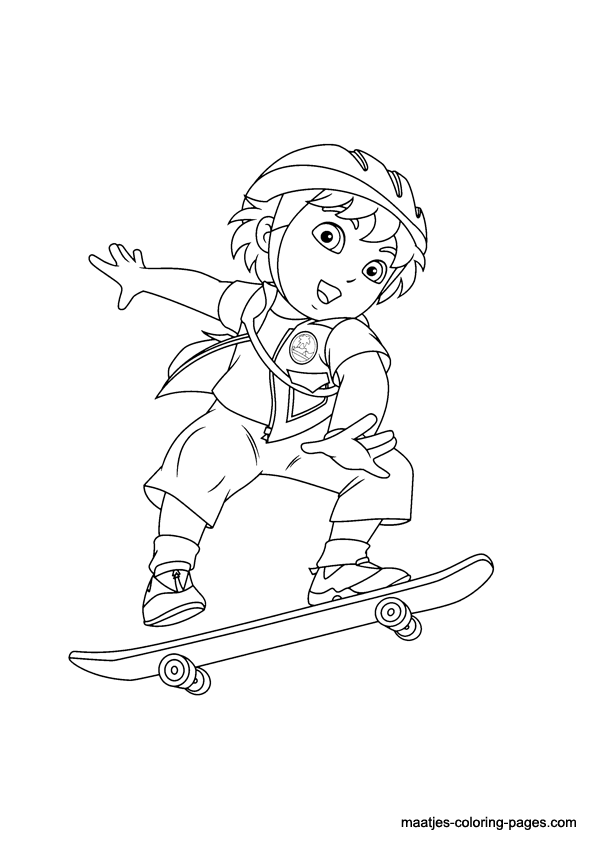 Go Diego Go Coloring Page Go Diego Go Coloring Pages