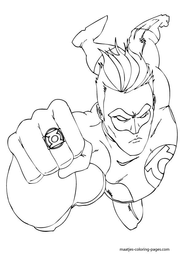 Green Lantern Coloring Pictures Images Green Lantern Coloring Page