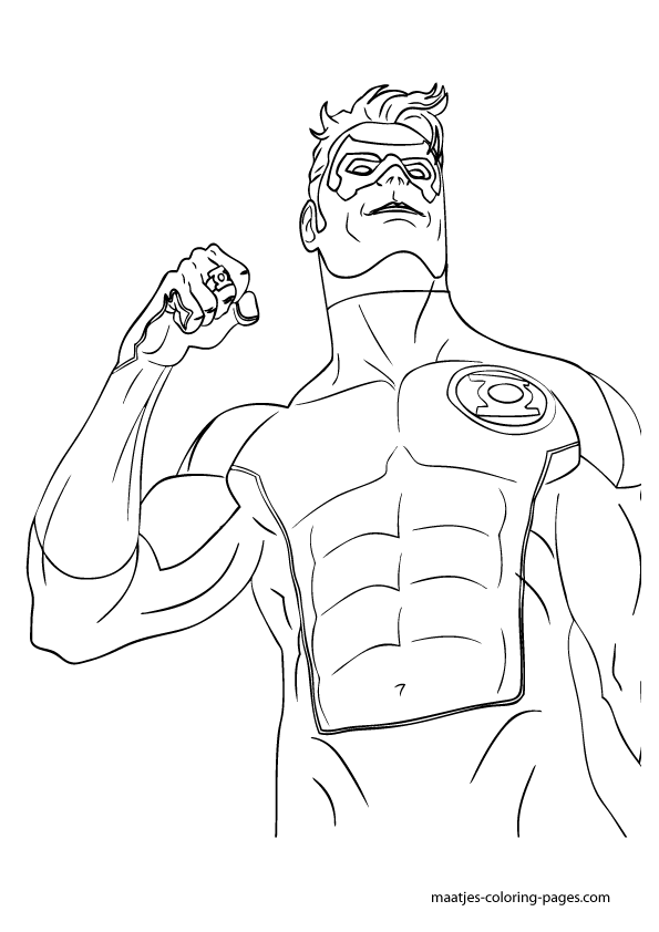 green lantern free coloring pages
