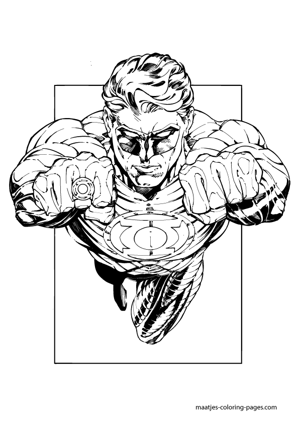 Free Green Lantern Coloring Pages