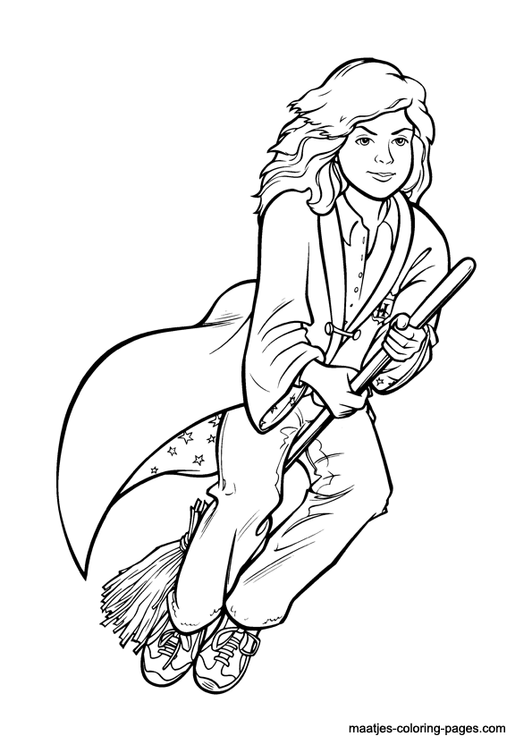 Luna Lovegood Coloring Pages Coloring