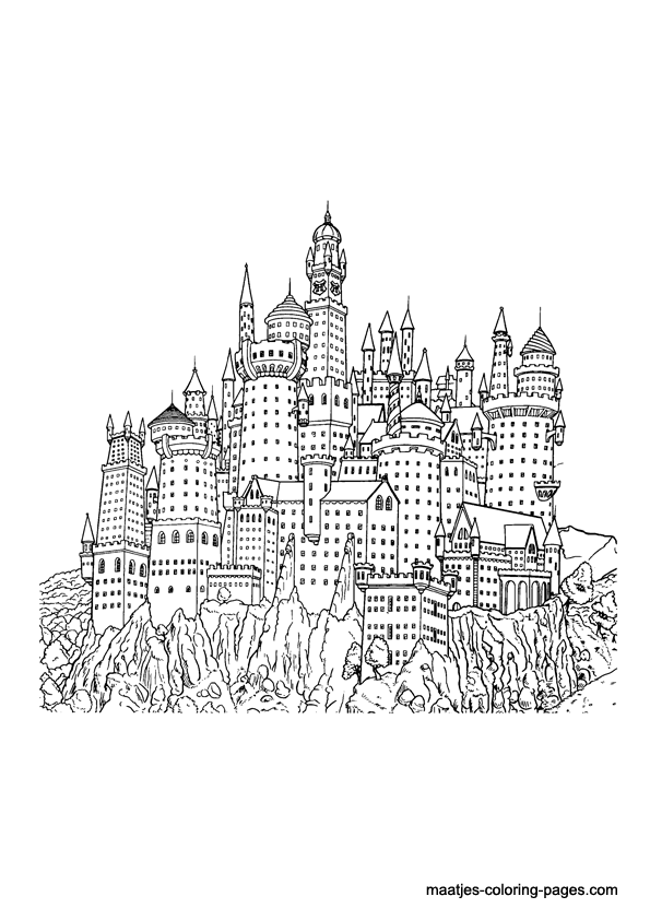 harry potter castle coloring pages - photo#9