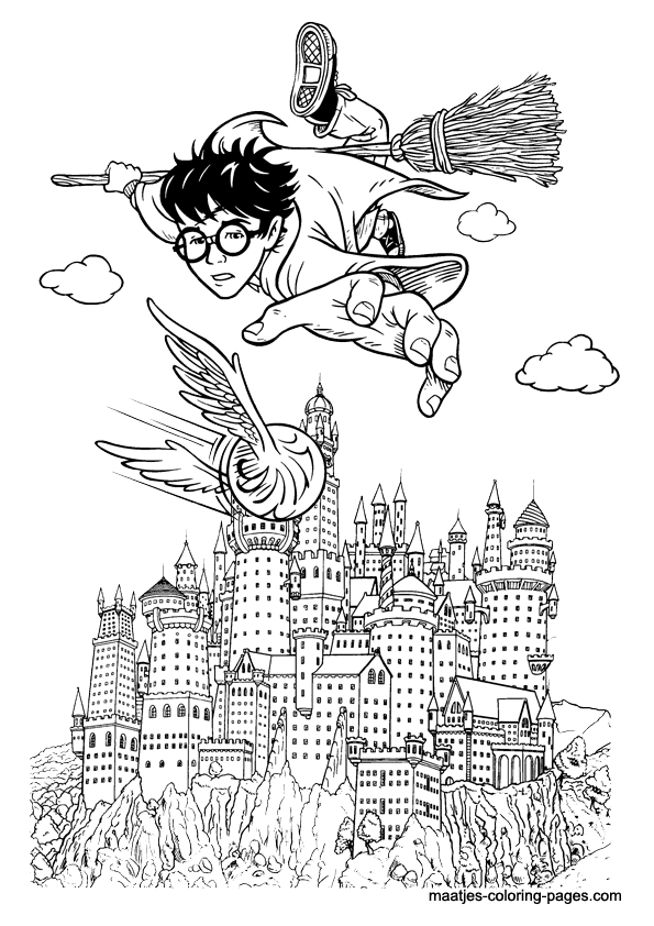 harry potter castle coloring pages - photo#5