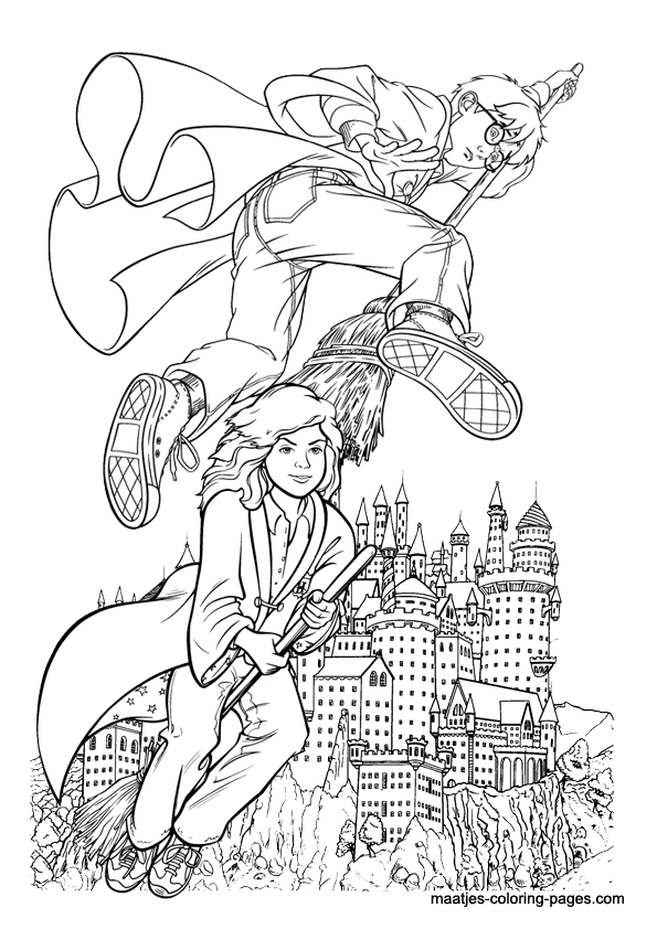 Free Printable Harry Potter Coloring Pages For Kids | Harry potter ... | 842x595