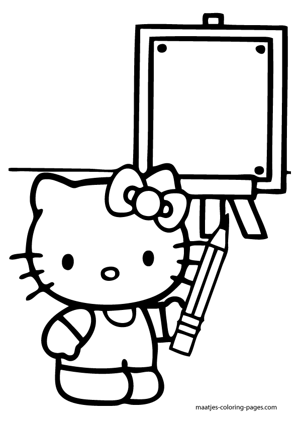 Evil Hello Kitty Coloring Pages : Hello kitty superhero coloring pages pictures to pin on