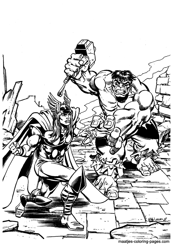 Hulk coloring pages overview 1