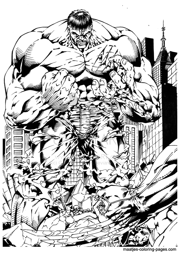 Free Printable Hulk Coloring Pages For Kids | 842x595