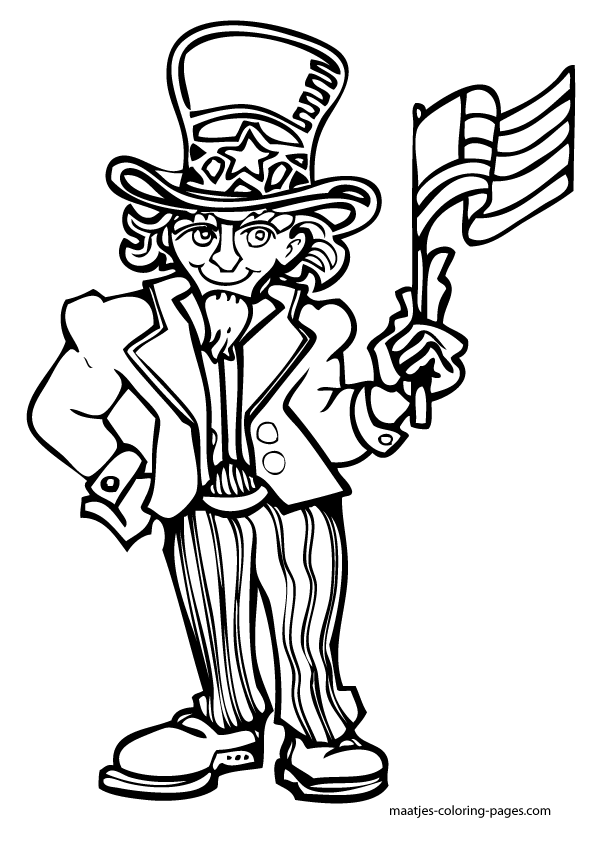 Independent day free colouring pages for Independence day coloring pages