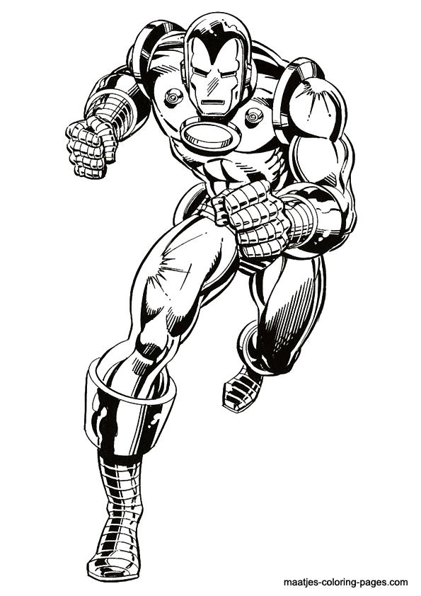 Ironman coloring page for Disegni da colorare iron man