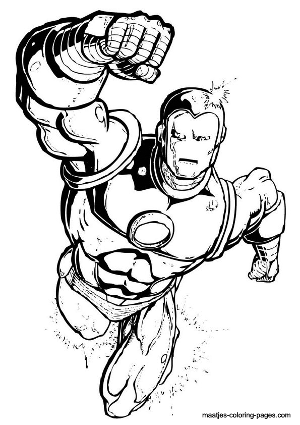Ironman coloring page for Free printable ironman coloring pages