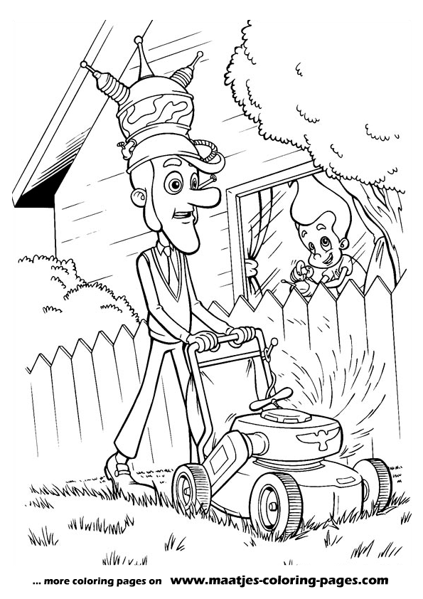 planet sheen coloring pages | Jimmy Neutron coloring page for children