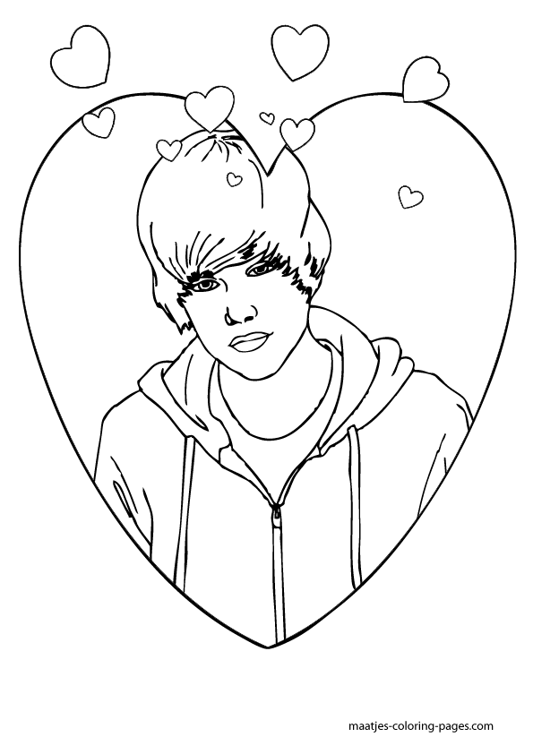 Coloring Now » Blog Archive » Coloring Pages of Justin Bieber