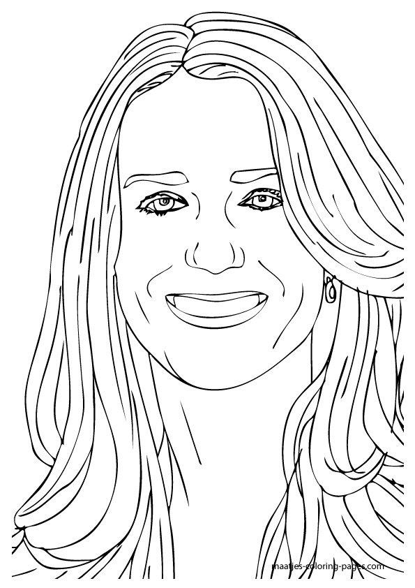 Princess Kate Coloring Pages : Catherine princess coloring pages