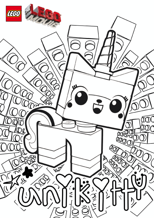 Unikitty The Lego Movie Coloring Pages