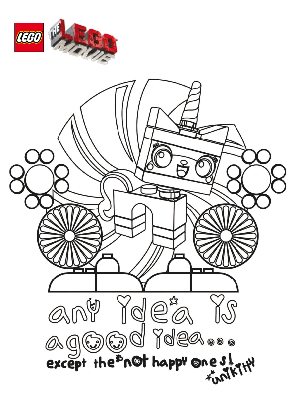 Unikitty Coloring Pages
