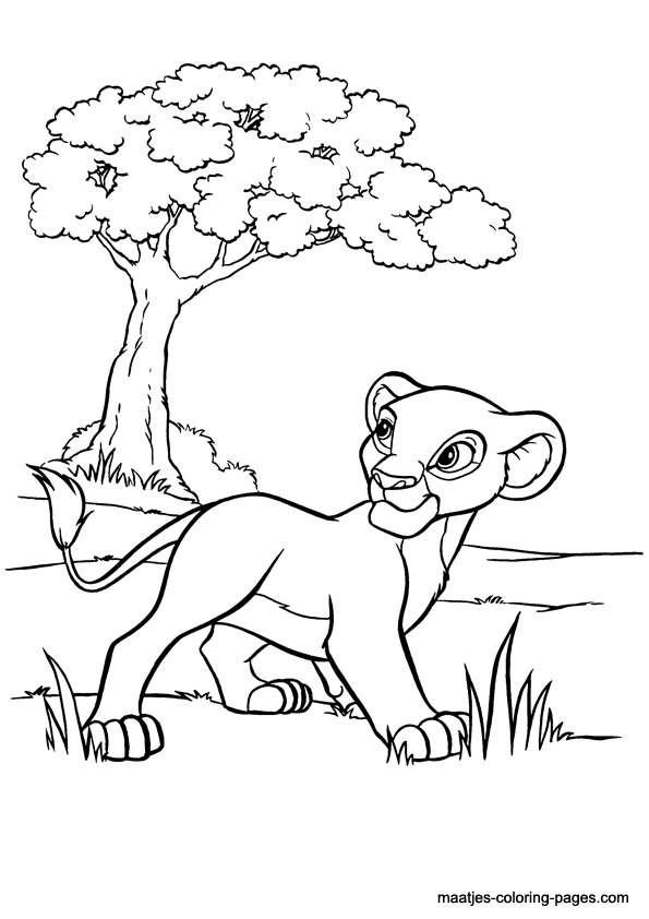Kiara free coloring pages for Lion king kiara coloring pages