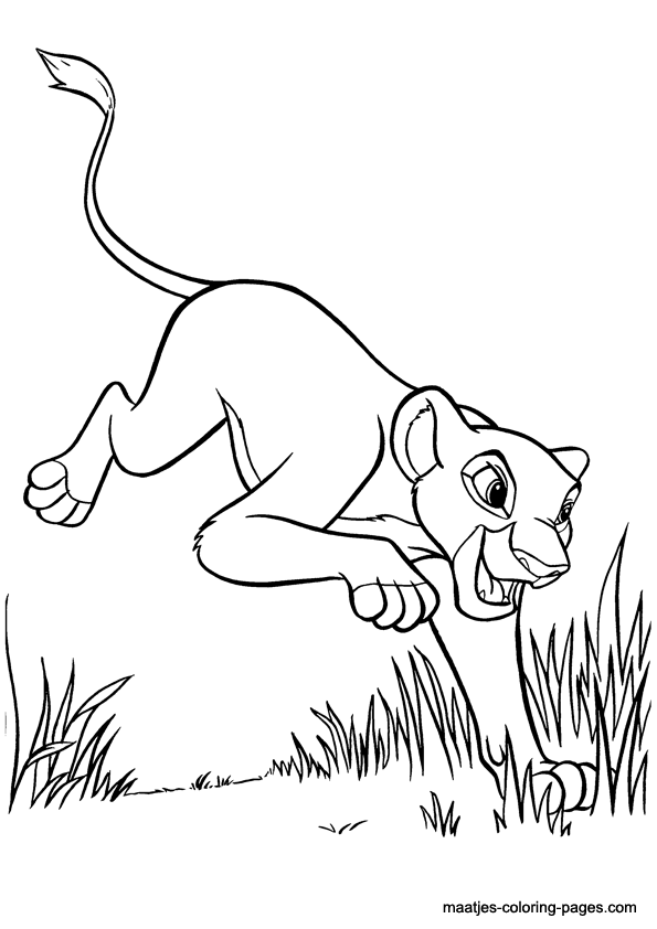 Baby kiara free coloring pages for Lion king kiara coloring pages